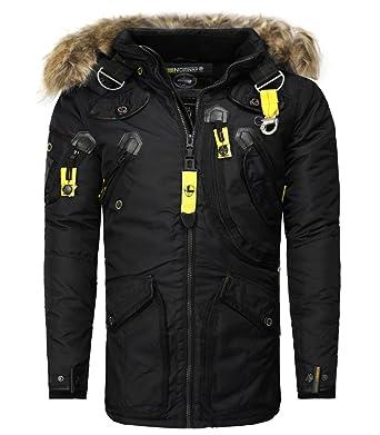 b8d358109040 Geographical Norway - Parka Geographical Norway homme Parka Agaros noir -  Noir  Amazon.fr  Vêtements et accessoires