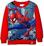 PICCOLI MONELLI Felpa Spider Uomo Ragno Bambino Girocollo Calda 8 Anni 128 cm Rosso