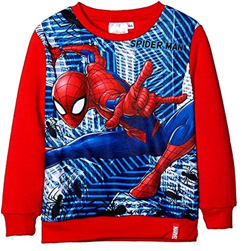 Piccoli monelli felpa spider uomo ragno bambino girocollo calda 6 anni 114 cm rosso