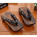 X Zapatos Tradicionales Japoneses Informal Paulownia Madera Geta Zuecos Oriental China De Verano Chancletas Pisos Hombre Al A