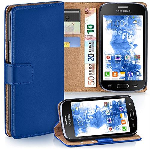 Cover OneFlow per Samsung Galaxy Trend / Trend Plus Custodia con scomparti documenti | Flip Case Astuccio Cover per cellulare apribile | Custodia cellulare Cover rotettiva Accessori Cellulare protezione Paraurti ROYAL-BLUE Galaxy Trend / Trend Plus