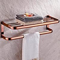 TOYM- Pieno di antico asciugamano rame portasciugamani cremagliera a muro accessori rack Toilette Bagno ( colore : Rose d