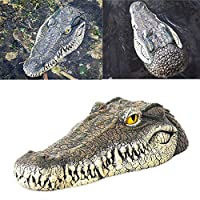 Peedeu Alligator Head Decoy,Floating Crocodile Head For Pond,Garden or Patio, Goose,Heron,Predator,Duck Blue Heron Decoy,33x15.5x7.5cm
