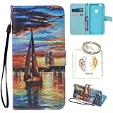 Coque Huawei P10 Lite (5,2 pouces) Case Wallet Phone Stand Cover with Credit Card Slots Flip Protective Case For Huawei P10 Lite (5,2 pouces) -photo Frame Keychain (Y/6) (1)