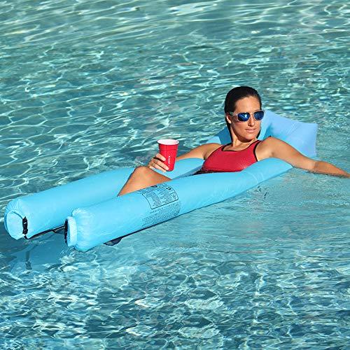 JSVER Aufblasbare Wasserhängematte Bett Schwimmendes Bett Pool Wasser-Hängematte Mesh Mat Luftmatratze Wasser Sofa Faltbare Stuhl Matte für Urlaub Wasser Party Schwimmbad Strand