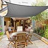 Greenbay Sun Shade Sail Outdoor Garden Patio Yard Party Sunscreen Awning Canopy 98% UV Block Rectangle Anthracite With Free Rope(3x2m)