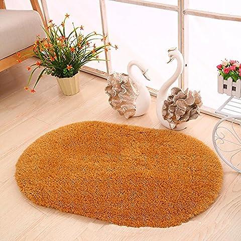 HDWN Alfombra oval de terciopelo ¨¢rtico Alfombrillas colch¨®n esteras cordero alfombras tapetes colchones colchonetas , camel beijirong doormat , 0.5Ã×*0.8Ã×ÍÖÔ²ÐÎ