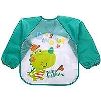 FOK 1 Pc Full Sleeves Washable Waterproof Feeding Bib for Babies and Kids - Random Color