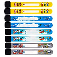 Luchild ID Bands for Kids Waterproof ID Wristband Safety Wristband Name Wrist Bands for Labeling, 8-Pack