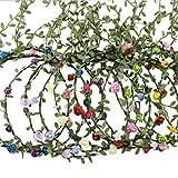 AWAYTR Haarband Boheme Geflochten Blumen Haarreif Stirnband HIPPIE (Mixed Farb 9Pcs-A)
