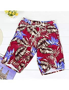 HAIYOUVK Men'S Swim Trunks Five Minutes Swim Trunks Swimwear Tether Stretch Boxer Loose Hot Spring Vacation,Male...