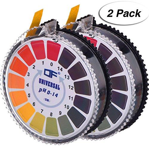 Lab-bereiche-karte (Universal pH Testpapierstreifen pH Teststreifen Rolle, pH Wert Voller Bereich 0 - 14, 2 Rollen, 16.4 ft/ Rolle)