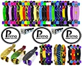 """Primo Cruiser - Penny Skateboard Style - Retro Cruiser Plastic Skateboard 22"""" X 6"""" Available In over 20 Colours And Transparent Colours"""