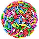 MoGist 100 Stück Mini Wäscheklammern Deko Klammern Nette Minimalistische Bunte Holz DIY Foto Clip Zierklammern Zufällige Farbe