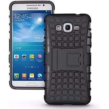 CEDO® Premium Hybrid Military Grade Armor Kickstand Back Cover Case for Samsung Galaxy J2(6) 2016 J210 - Black