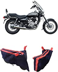 MotRoX Baklol_Red Two Wheeler Cover for Bajaj Avenger 220 Cruise (with Japanese Technology Stitched Piping)