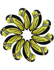 Taylormade Rbladez funda de palo de golf hierro 10pcs/set MT/T15 negro/amarillo