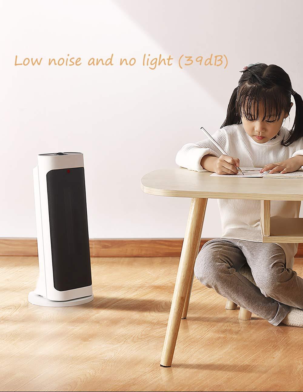 LANLAU Calentador, Ventilador De Calentador Personal Eléctrico con Oscilación Automática, Viento Cálido/Frío para… 3
