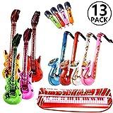 Yosemy Inflables de Juguete, Inflable Guitarra Saxofón Micrófono Teclado, Música Parte Prop ...