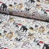 Stoff Dekostoff Digitaldruck Dekostoff französische Bulldogge Hunde Stoff Canvas - Meterware - Stoff zum Nähen