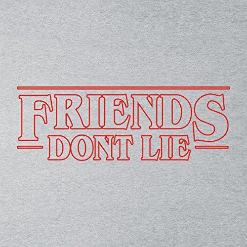 Friends Dont Lie Stranger Things Women's Sweatshirt Heather Grey