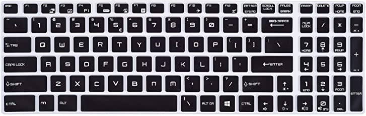 """iFyx Keyboard Skin Protector for MSI GL63 15.6"""" Gaming Series Laptop Cover (Black)"""