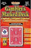 Houdini Magic Gamblers Marked Deck mit Bicycle MAIDEN BACK Deck - Ein Stripper Deck, markiert und mehr... mit engl. Handbuch!