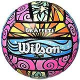 Wilson Graffiti, Palla da Volley Unisex – Adulto, Viola/Blu/Verde/Giallo, Ufficiale