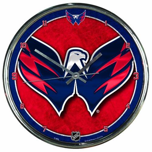 NHL Wanduhr, Chrom, 30,5 x 30,5 cm, Washington Capitals, Einheitsgröße