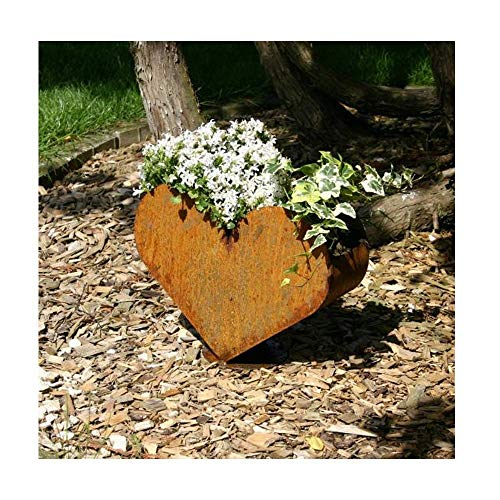 EQT-TEC Garten Dekoration Garten Edelrost Pflanzenkübel Blumen Kübel Deko Dekoration