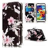 nancen Housse Coque Samsung Galaxy S5 / I9600 SM-G900F Haute Qualité PU Cuir