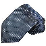 Cravate homme points bleu 100% soie