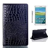 Forhouse Hülle Samsung Galaxy Tab S 8.4 T700 PU Ledertasche Flip Magnet Etui Mit Standfunktion Ultra Schlanke stoßfest Schutzhülle für Samsung Galaxy Tab S 8.4 T700 (Black)