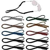 Senhai 10 Pezzi Cinturini per Occhiali da Sole per Uomo, Donna e Bambino, Fermi per Occhiali Regolabili Supporto per Il Collo