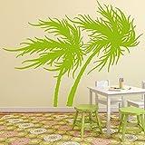 Palmeras que soplan en viento Tropical Flores y árboles vinilos decorativos Inicio Calcomanías disponible en 5 tamaños y 25 colores X-Grande Nube Gris