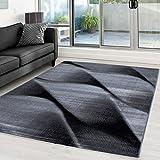Moderner Designer Wohnzimmer Teppich Parma 9240 Schwarz - 160x230 cm