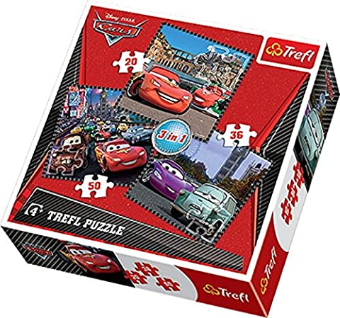 Trefl - 57959 - Puzzle Classique 3 En 1 - 20-36-50 Pièces - Cars