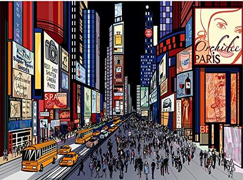 Worryd Photo Wallpaper 3D City Night View Wallpaper