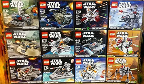 LEGO Star Wars Microfighters Series 1 and 2 Set of 12 (75028, 75029, 75030, 75031, 75032, 75033, 75072, 75073, 75074, 75075, 75076, and 75077) by Microfighters