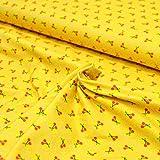 MAGAM-Stoffe ''Kirschen'' gelb | Jersey-Stoff
