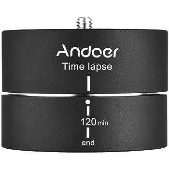 Andoer ° 120 Minutes panoramique trépied rotatif Accéléré Stabilisateur  Trépied Adaptateur 360 pour Gopro ILDC Mobilephone 6cb5a3b3fd12