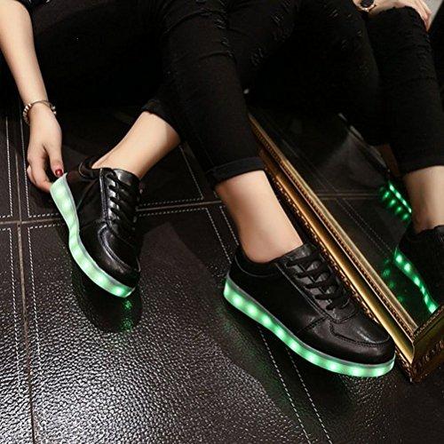 (Present:kleines Handtuch)JUNGLEST® Kinder Jungen Mädchen LED Schuhe Leuchtend Sneaker Farbwechsel Fluorescence Turnschuhe Sportsschu c37