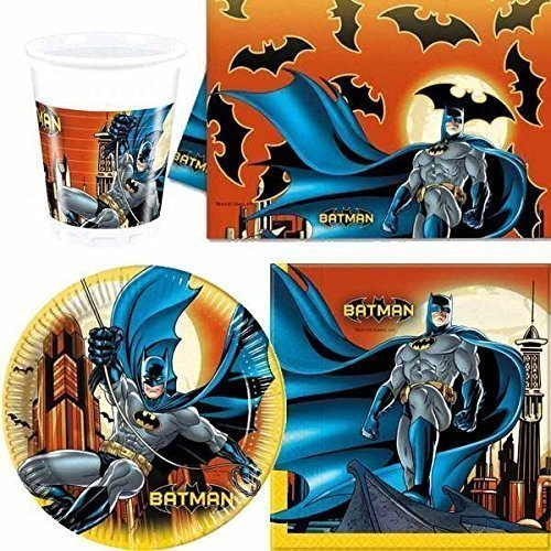 Batman Oscuro Heroe vajilla para fiesta para 8