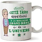 Mugffins Mamie Mug/Tasse - Cette Tasse Appartient à La Meilleure Grand-Mère de l'univers - Tasse Originale/Cadeau Anniversair