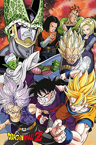 Dragon Ball Z Poster Cell Saga (61cm x 91,5cm) + Un Joli Emballage Cadeau