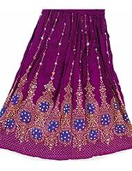 Nueva falda larga gitana india del cequi del Hippie del indio de las señoras hermosas del diseño | Faldas de la danza del vientre | Danzantes del Mundo (Mauve)