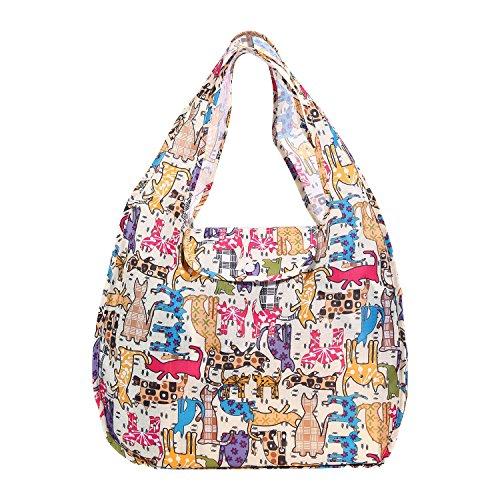 AOLVO Wiederverwendbare Lebensmittel Einkaufstaschen, waschbar, langlebig und leicht, zusammenklappbar Reise-tasche