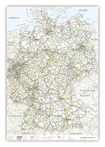 LYSCO Deutschlandkarte DIN A2 Format gefaltet auf DIN A4 ( K-711 )