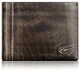 camel active, kleine Geldbörse aus echtem Leder für Herren, schwarz