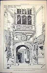 Stampi la Bietola Da Coste di Thos Costruita Portico dell'Abbazia di Ford di Pianificazione Roland 1528 Paul Pugin 1889 648L157